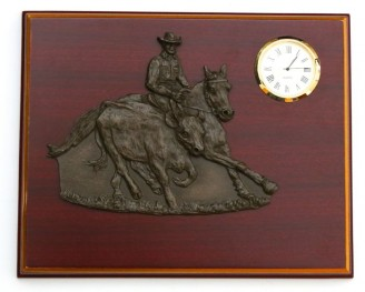 Relief Plaque Campdrafter w/Clock
