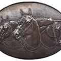 P11 Quarter Horse Heads Plaque