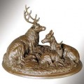 Red Deer (Stag, Doe & Fawn) MP77